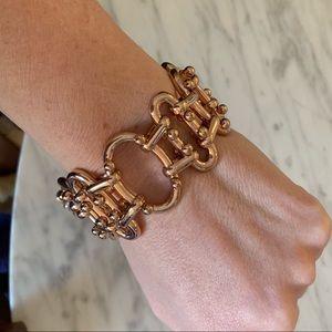 J crew rose gold link bracelet
